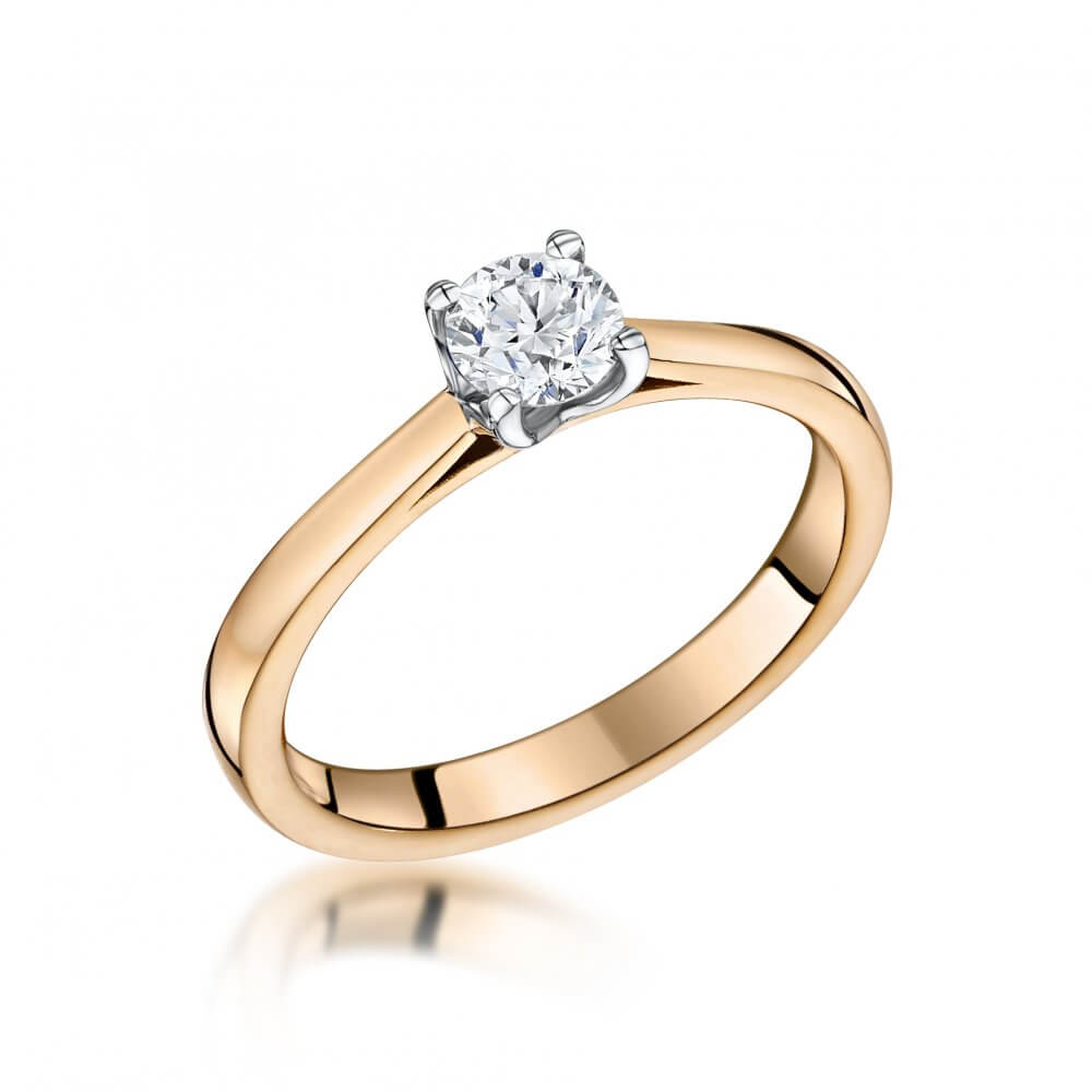 18ct Rose Gold Llawenydd Diamond Engagement Ring