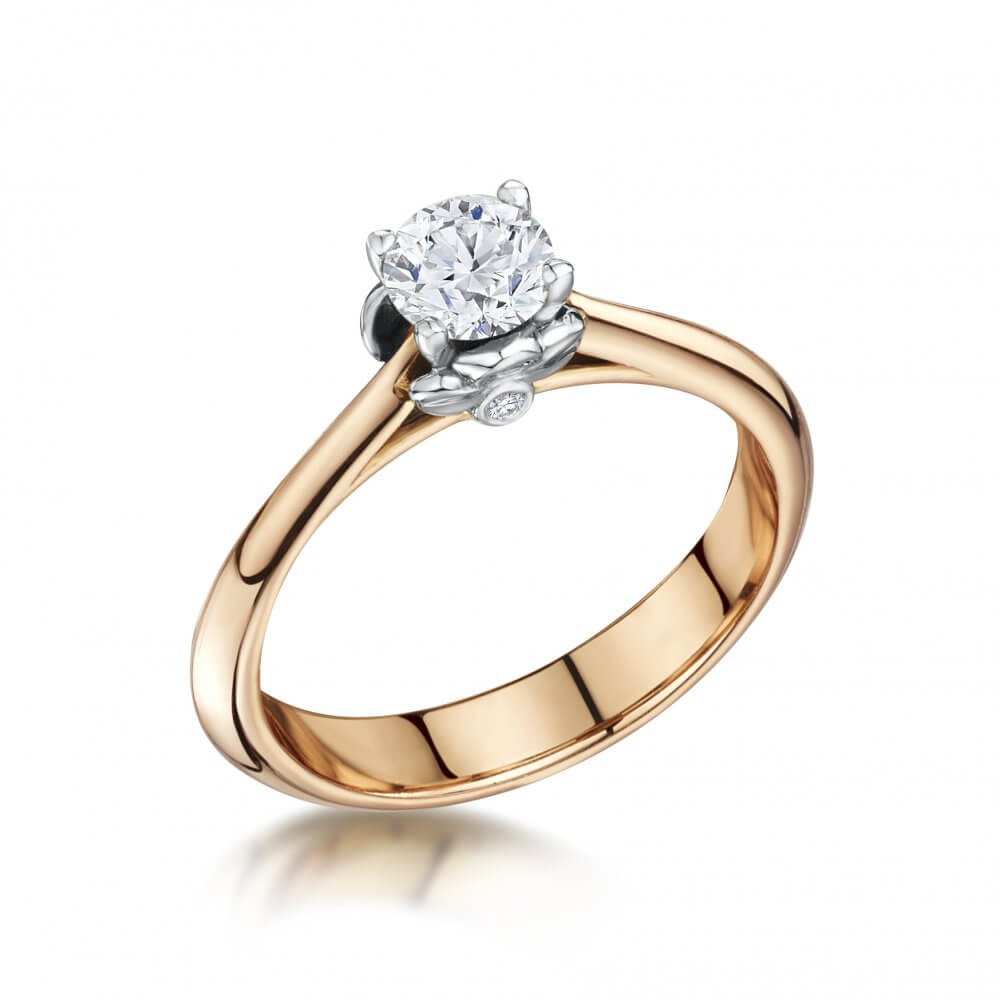 18ct Rose Gold Signature Diamond Engagement Ring