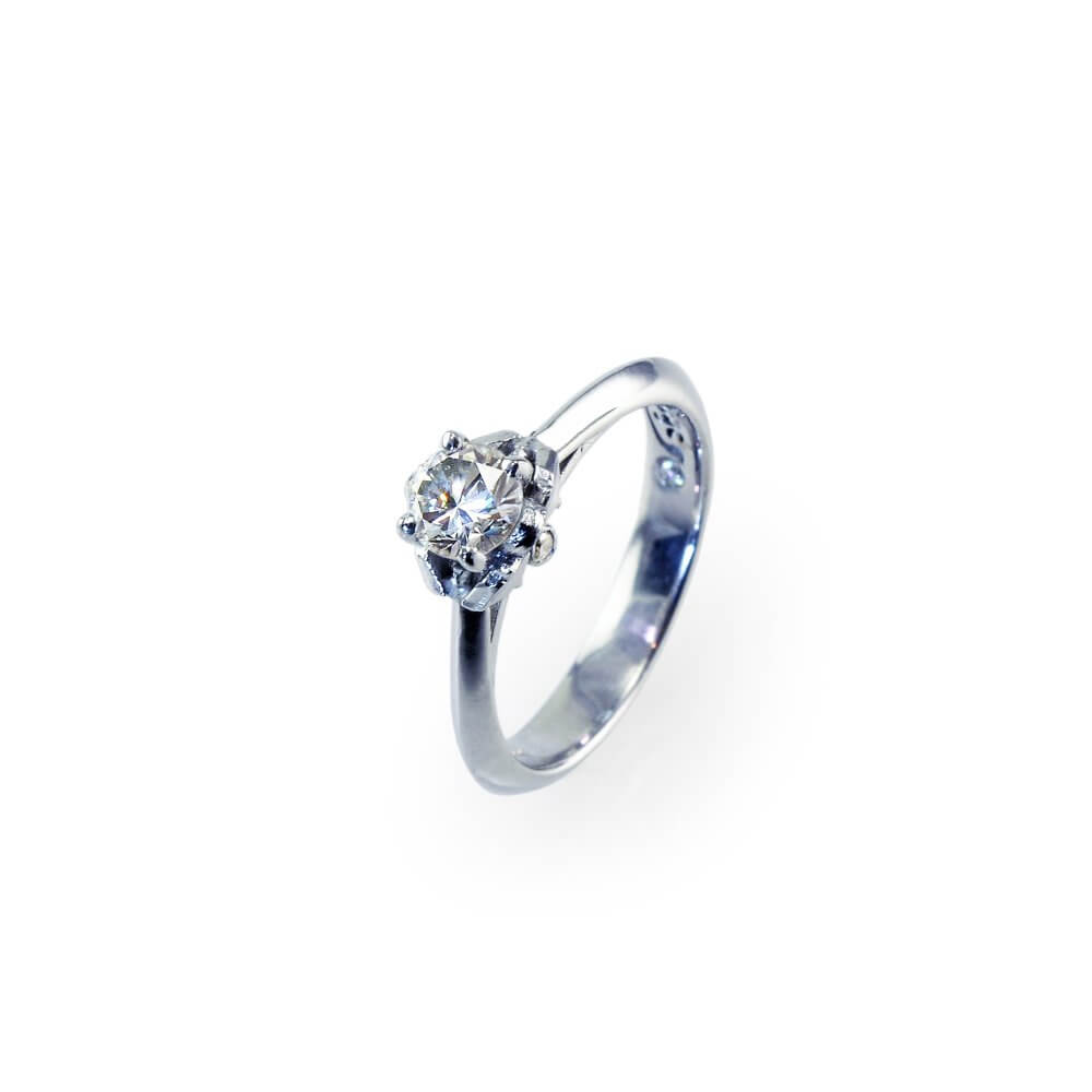 18ct White Gold Signature Diamond Engagement Ring