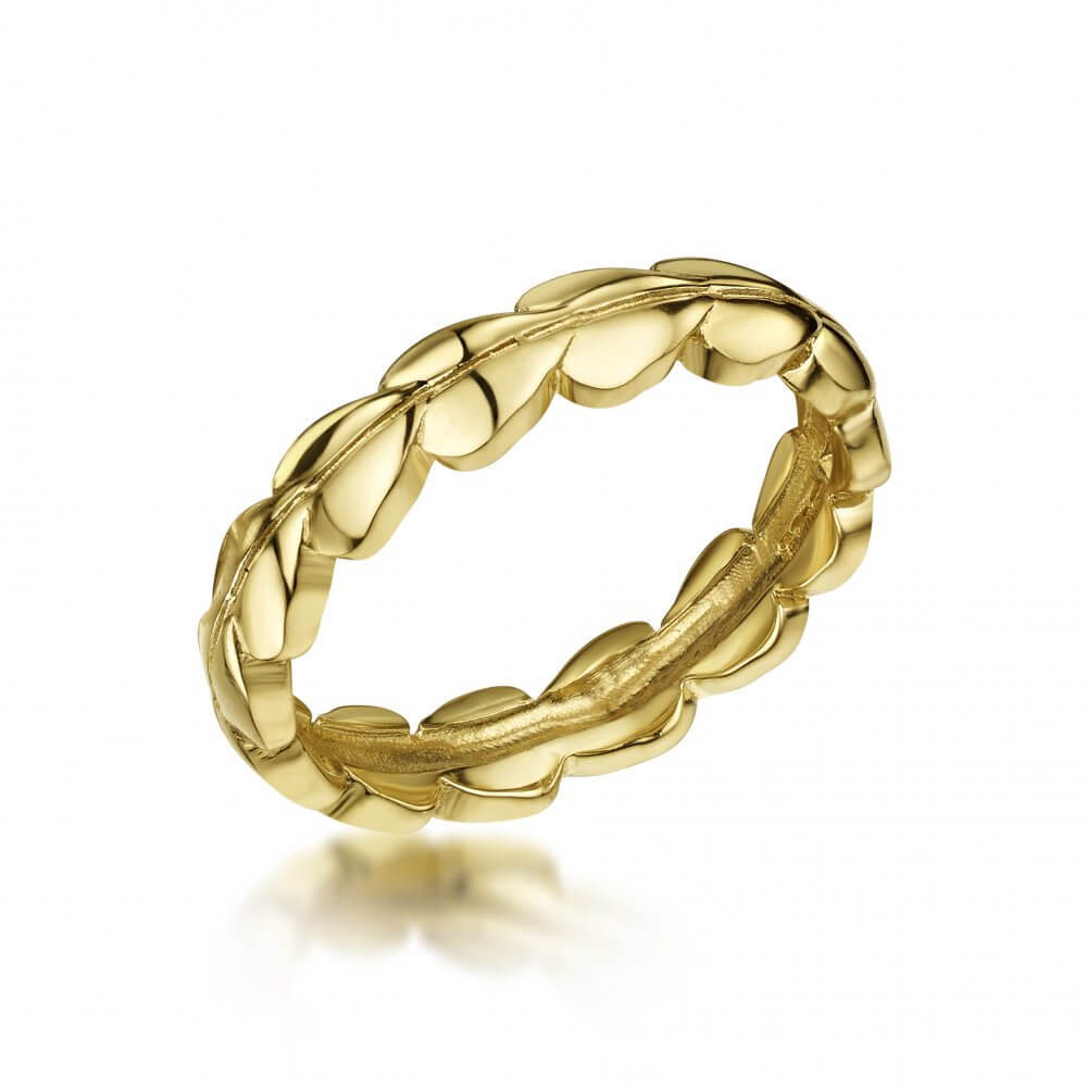 18ct Yellow Gold Eternal Ivy Ring