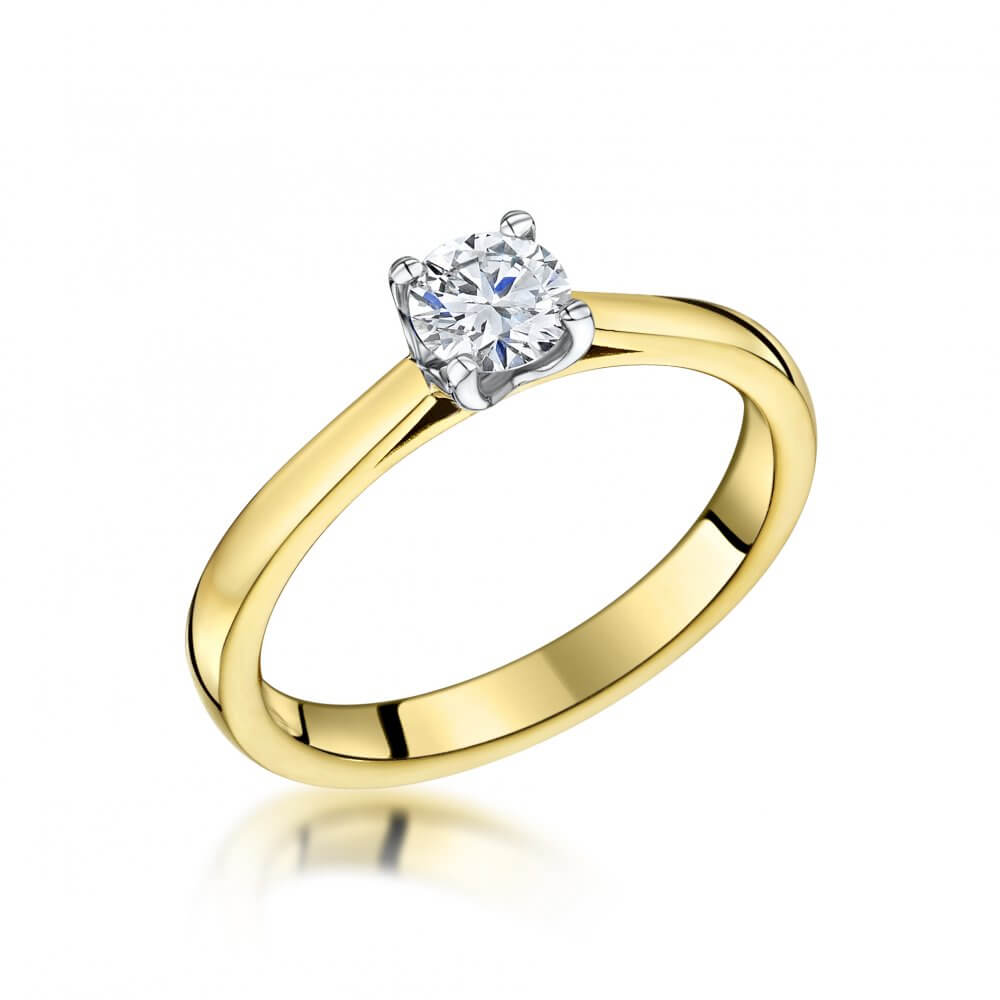 18ct Yellow Gold Llawenydd Diamond Engagement Ring