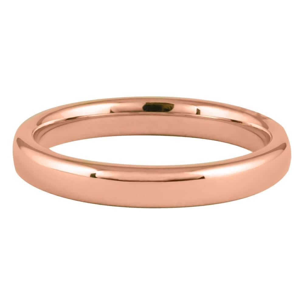 9ct Rose Gold 3mm Addewid Wedding Ring