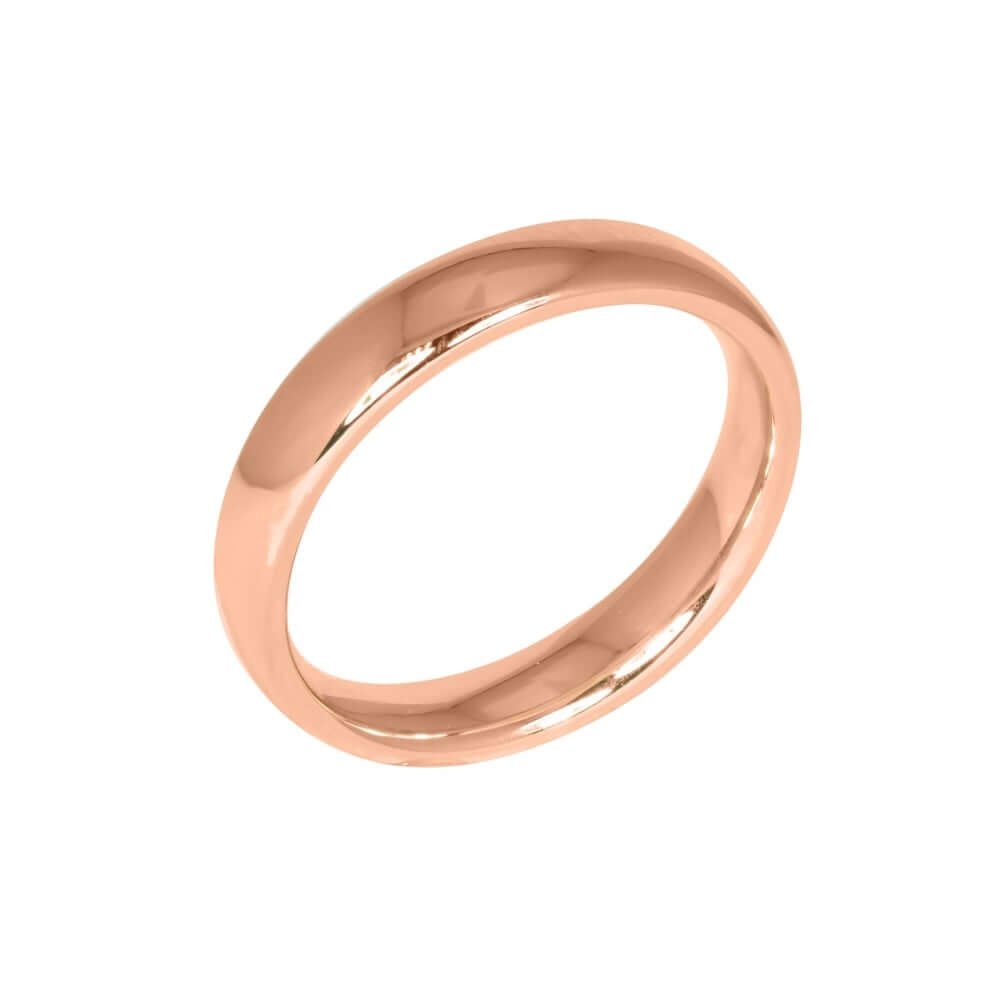9ct Rose Gold 4mm Addewid Wedding Ring