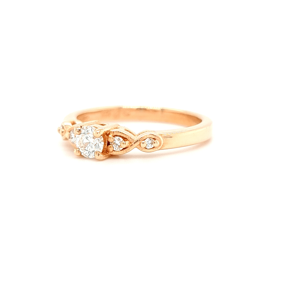 9ct Rose Gold 5 Stone Diamond Engagement Ring