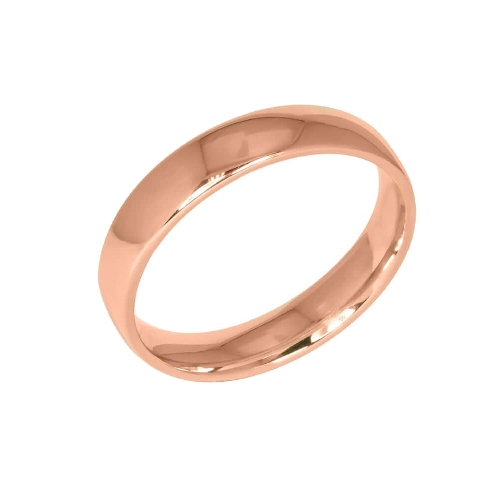 9ct Rose Gold 5mm Addewid Wedding Ring
