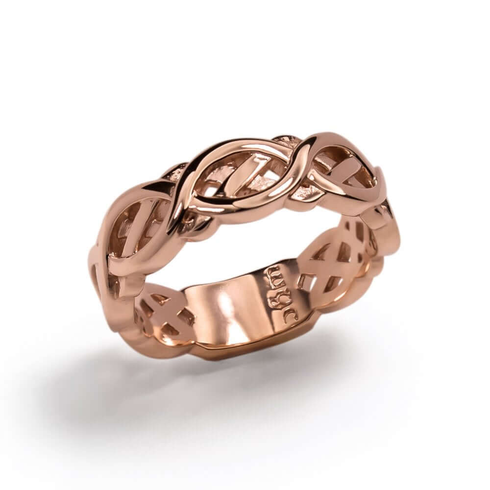 9ct Rose Gold Celtic Flow Ring