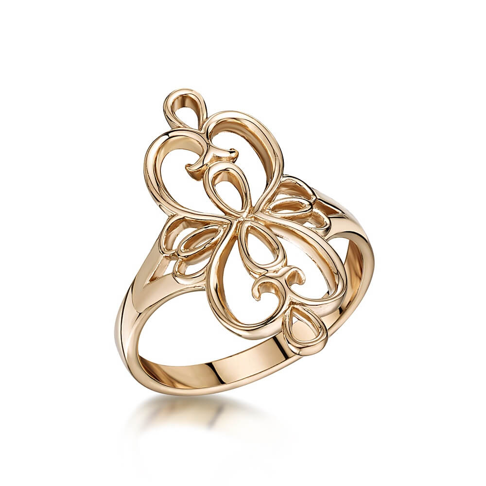 9ct Rose Gold Celtic Scroll Ring