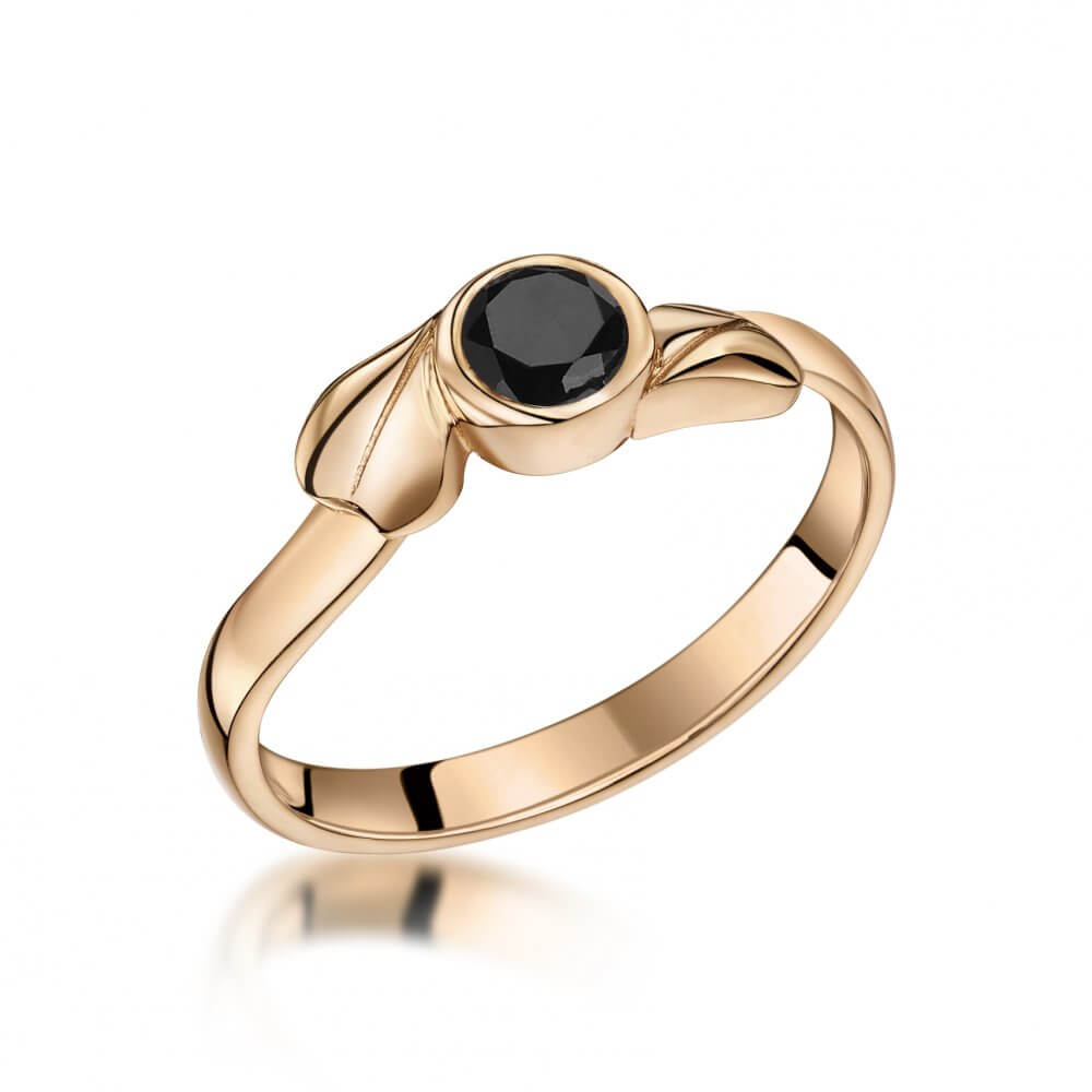 9ct Rose Gold Ivy Twist Sapphire Solitaire Ring