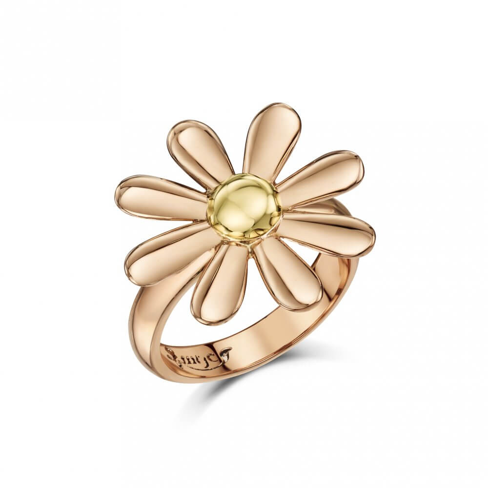 9ct Rose & Yellow Gold Celtic Daisy Ring