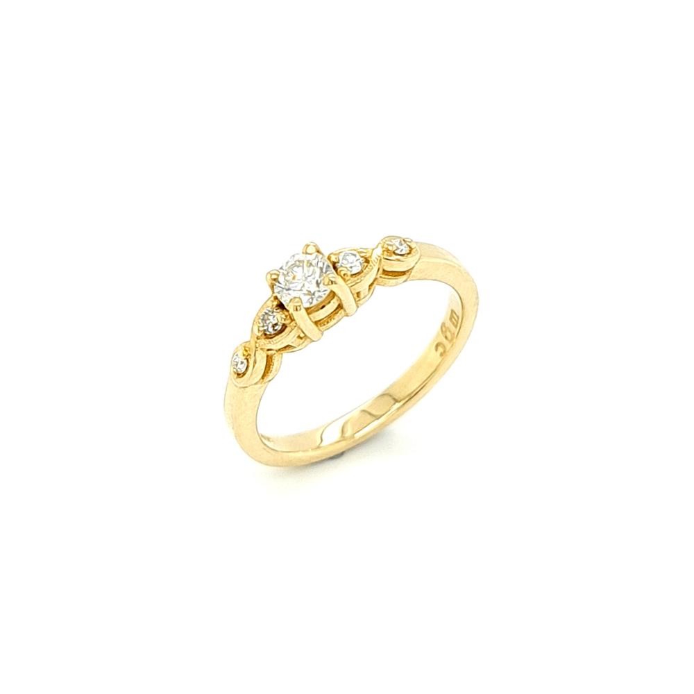 9ct Yellow Gold 5 Stone Diamond Engagement Ring