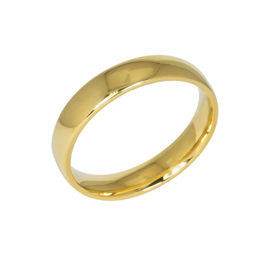9ct Yellow Gold 5mm Addewid Wedding Ring