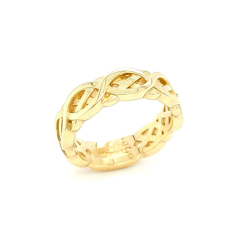 9ct Yellow Gold Celtic Flow Ring
