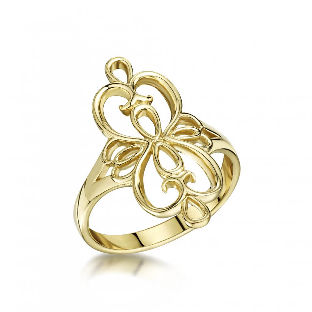 9ct Yellow Gold Celtic Scroll Ring