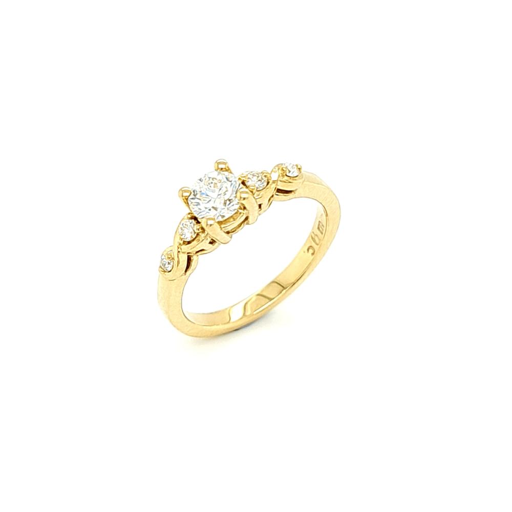 9ct Yellow Gold Diamond 5 Stone Engagement Ring