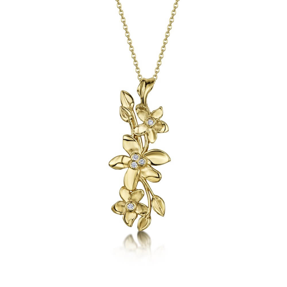 9ct Yellow Gold Pembroke Posy Pendant
