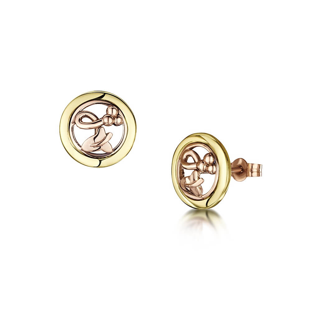 9ct Yellow & Rose Gold Eternal Ivy Earrings