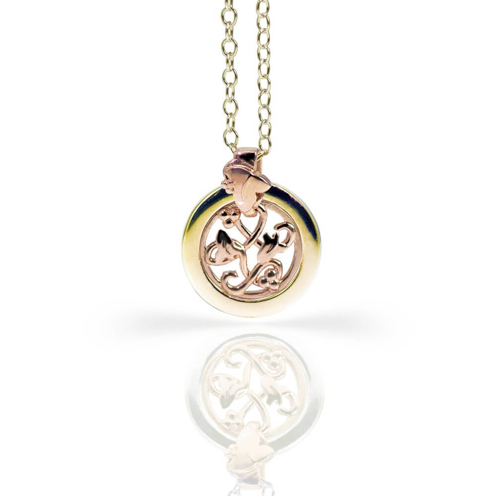 9ct Yellow & Rose gold Eternal Ivy Pendant