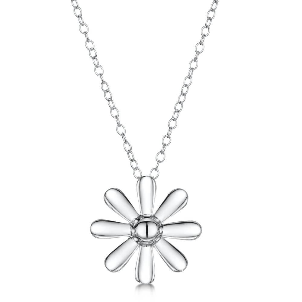 Silver Celtic Daisy Pendant